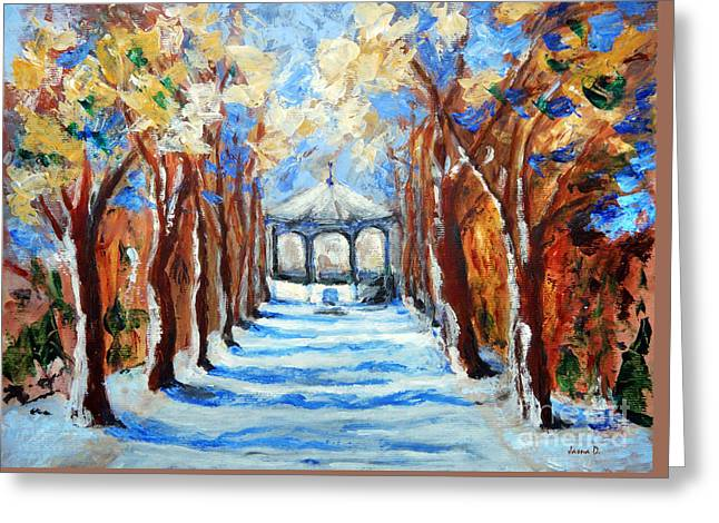 Park Zrinjevac Greeting Card by Jasna Dragun