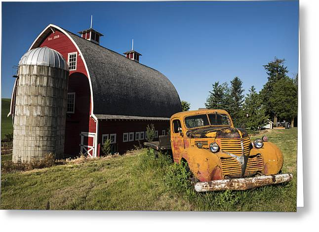 Parked In Front  Greeting Card by Jon Glaser