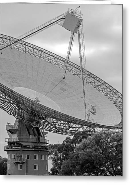 Transmit Messages Greeting Cards - Parkes Observatory Greeting Card by Nicholas Blackwell