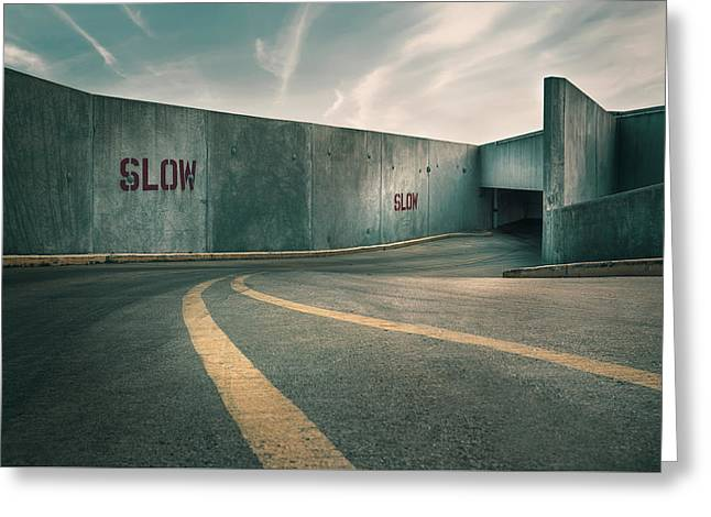 Parking Garage At The End Of The World Greeting Card by Scott Norris