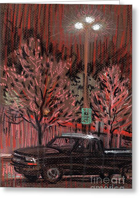 Parking Lots Greeting Cards - Parking Lights Greeting Card by Donald Maier