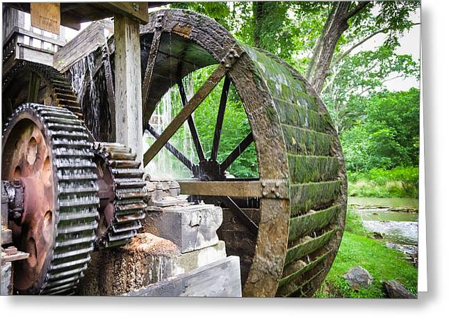 Old Mills Photographs Greeting Cards - Parks Mill Abingdon Virginia Greeting Card by Karen Wiles