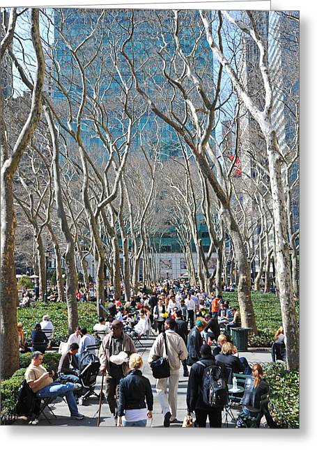 Bryant Greeting Cards - Parkscape Greeting Card by Tony Ambrosio