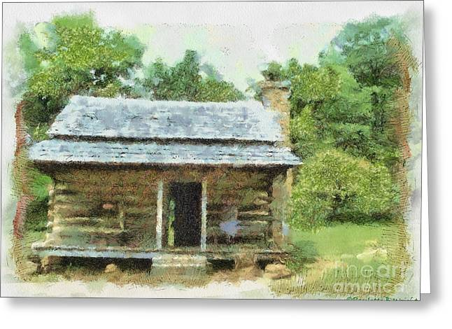 Parkway Cabin Greeting Card by Paulette B Wright