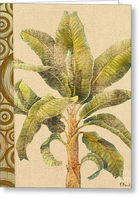 """tropical Trees"" Greeting Cards - Parlor Palm 1 Greeting Card by Paul Brent"