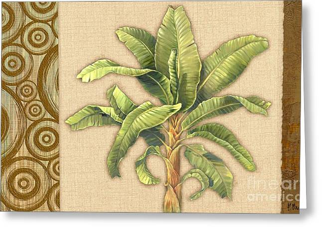 """tropical Trees"" Greeting Cards - Parlor Palm Horizontal Greeting Card by Paul Brent"