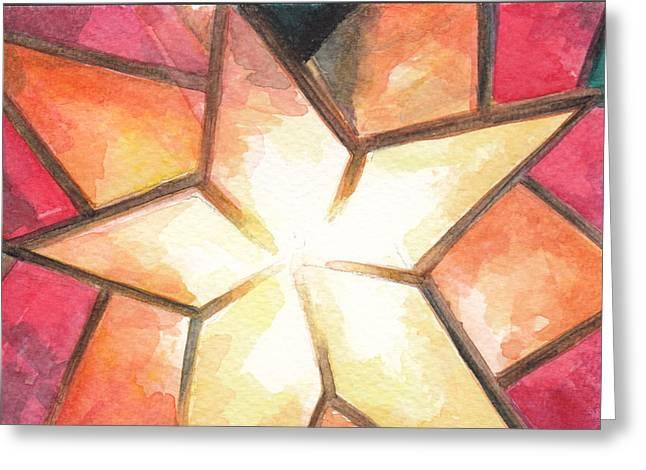 Star Of Bethlehem Greeting Cards - Parol Greeting Card by Ellen Bernales