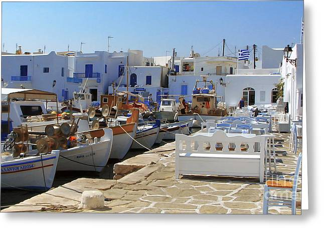 Paros Greeting Card by Christo Christov