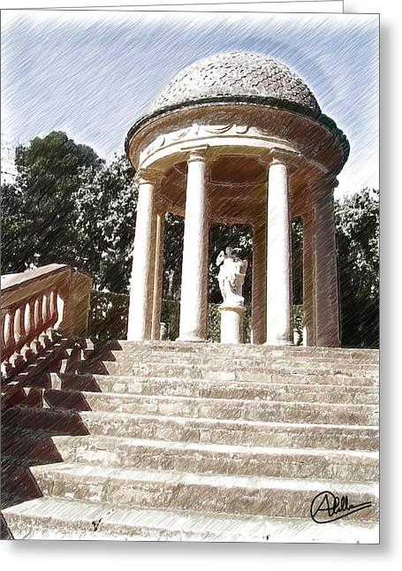 Parque Del Laberinto De Horta Greeting Card by Joaquin Abella
