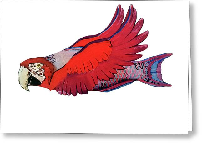 Parrot-fish Greeting Card by Mone Ehlers