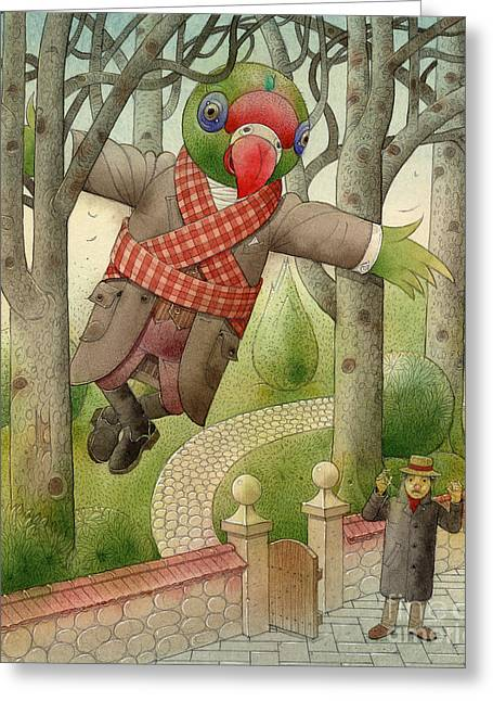 Parrots Greeting Cards - Parrots 01 Greeting Card by Kestutis Kasparavicius