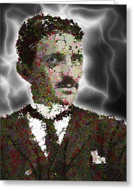 Serbs Greeting Cards - Particle Plasma Tesla Greeting Card by Daniel Hagerman