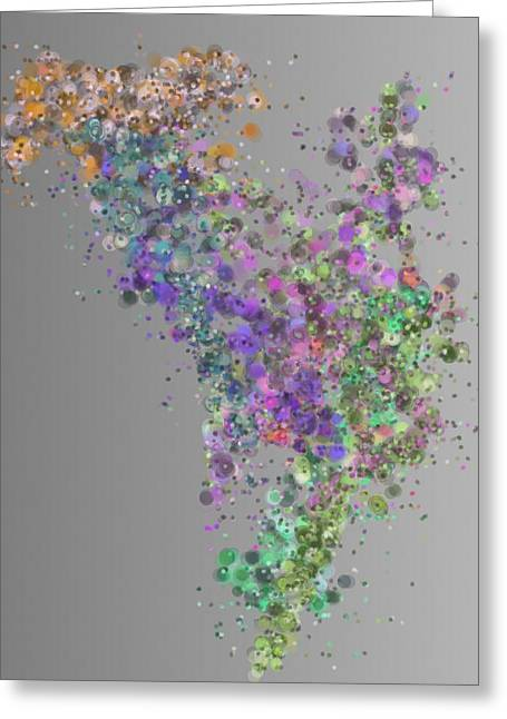 Generative Abstract Greeting Cards - Particulation 9-20-2015 #2 Greeting Card by Steven Harry Markowitz