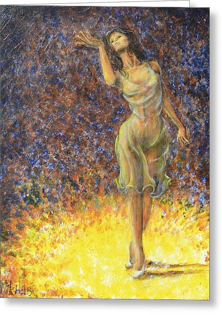 Parting Dancer Greeting Card by Nik Helbig