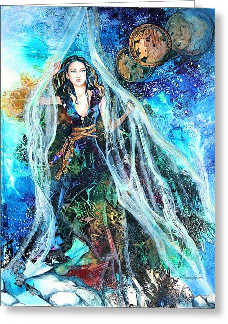 Parting Greeting Cards - Parting The Veil Greeting Card by Patricia Allingham Carlson