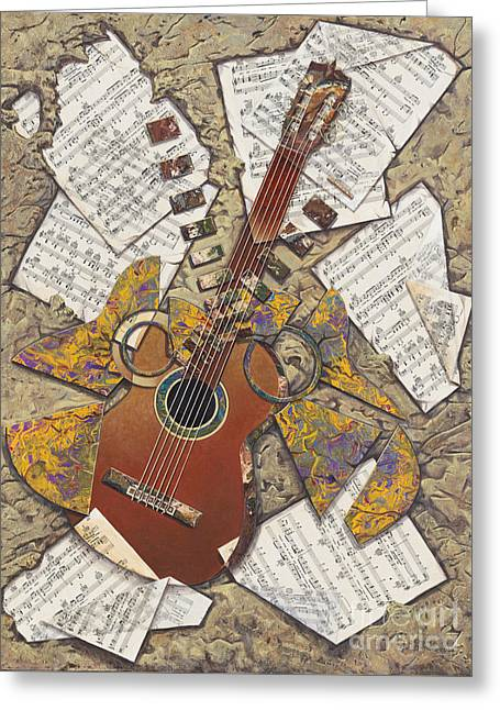 Partituras Greeting Card by Ricardo Chavez-Mendez