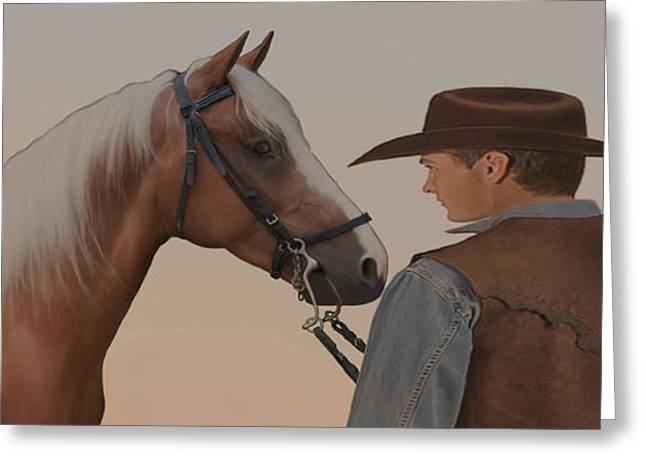 Bronc Greeting Cards - Partners Greeting Card by Corey Ford