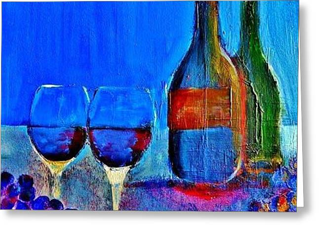 Blue Grapes Greeting Cards - Partners Greeting Card by Lisa Kaiser