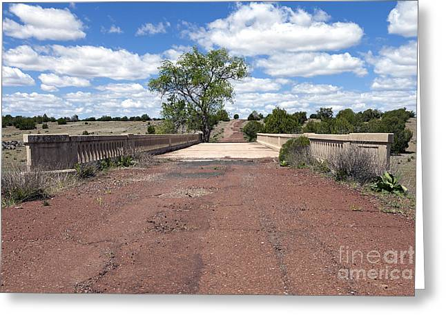 Roadway Greeting Cards - Partridge Creek Bridge and Route 66 Greeting Card by Rick Pisio