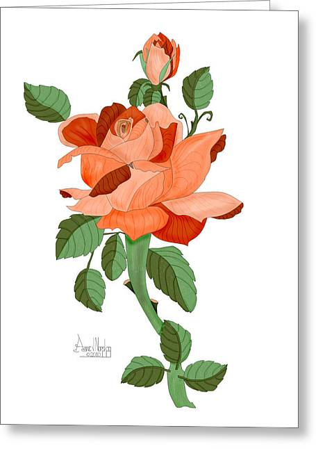 Multicolored Roses Greeting Cards - Party Colored Rose Greeting Card by Anne Norskog