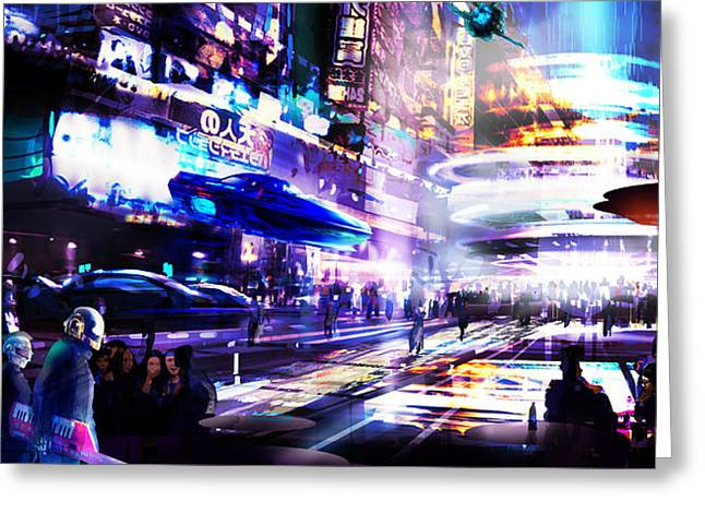 Party District Greeting Card by Tim Hansz