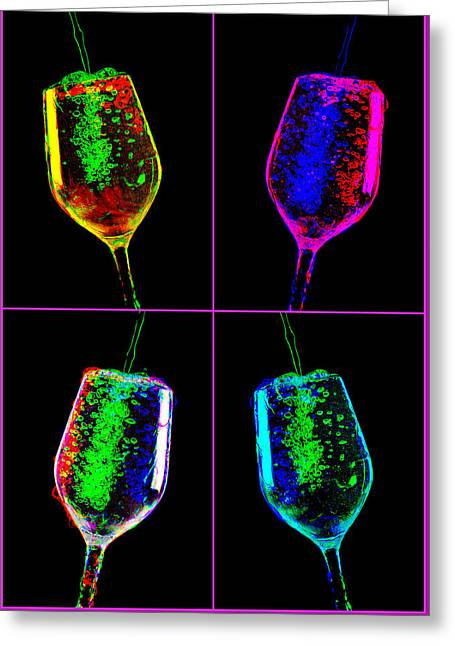 Party Time Greeting Card by Andy Mayes