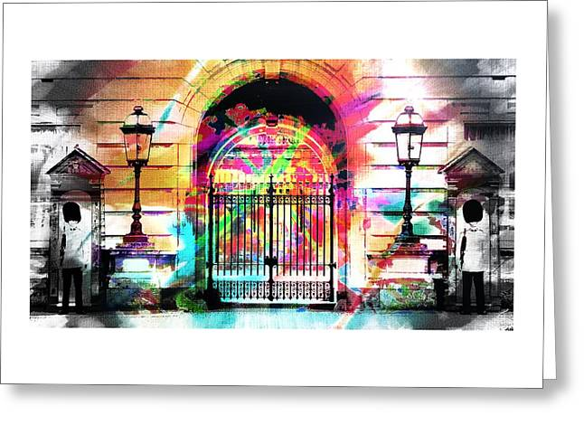 Party To Buckingham Palace Greeting Card by Jean Francois Gil