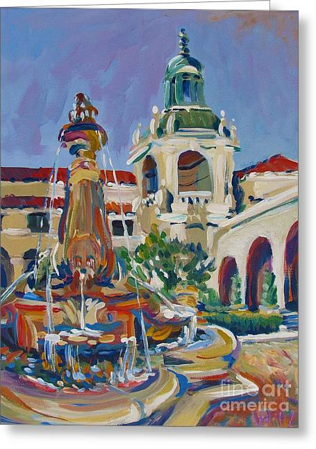 Pasadena City Hall Greeting Card by Vanessa Hadady BFA MA
