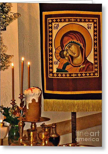 Holy Week Greeting Cards - Pascha Greeting Card by Sarah Loft