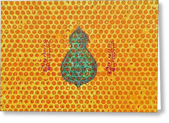Block Printing Greeting Cards - Paschim Greeting Card by Sumit Mehndiratta