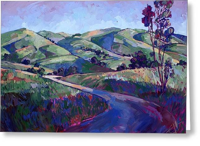 Paso Robles Greeting Cards - Paso Peace Greeting Card by Erin Hanson