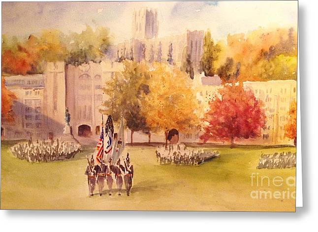 Cadet Greeting Cards - Pass In Review Greeting Card by Sandra Strohschein