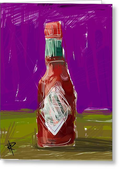 Jalapeno Greeting Cards - Pass the hot sauce Greeting Card by Russell Pierce