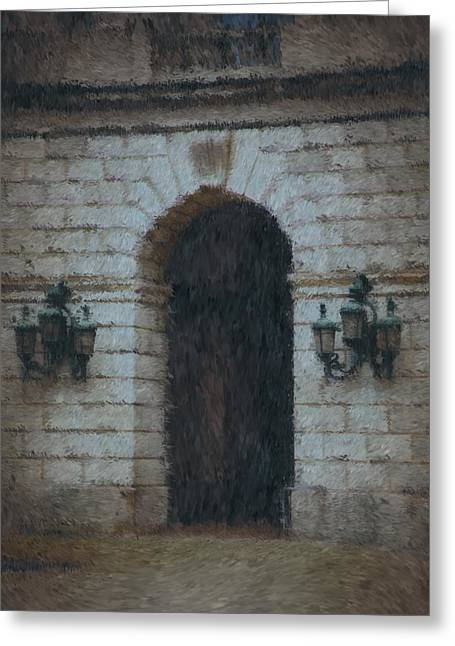 Medieval Entrance Digital Greeting Cards - Passage to Darkness Greeting Card by A R Williams