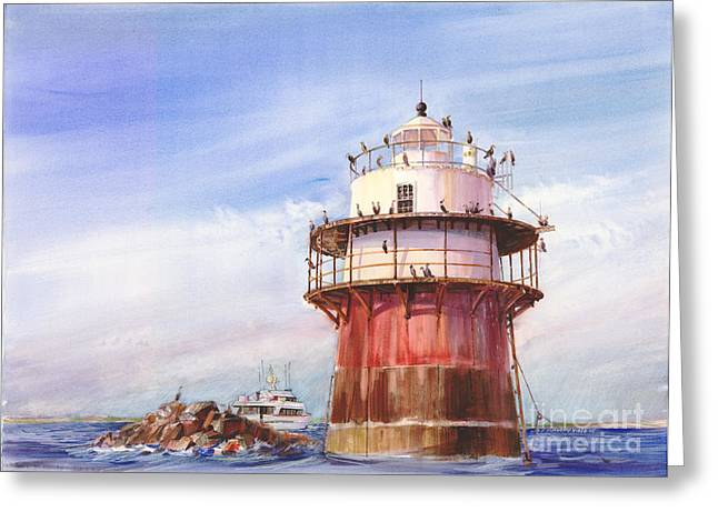 Duxbury Greeting Cards - Passing Bug Light Greeting Card by P Anthony Visco