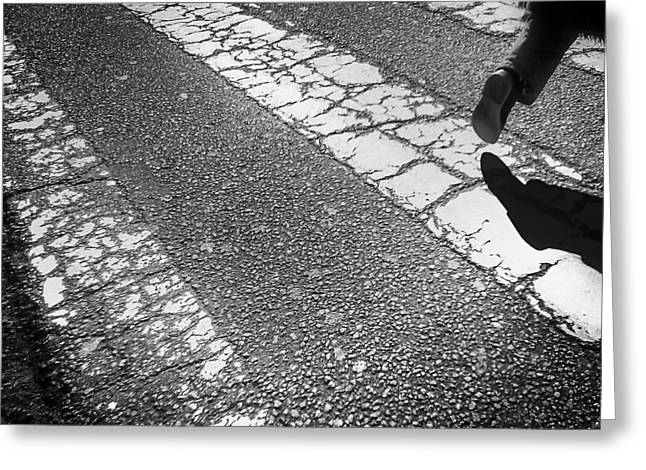 Crosswalk Greeting Cards - Passing by Greeting Card by Joao Bizarro