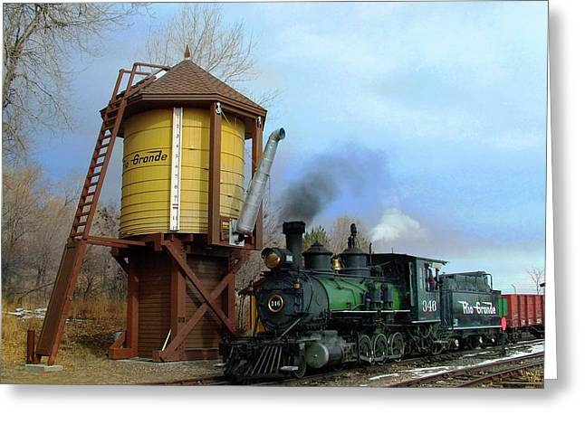 Colorado Railroad Museum Greeting Cards - Passing By Greeting Card by Ken Smith
