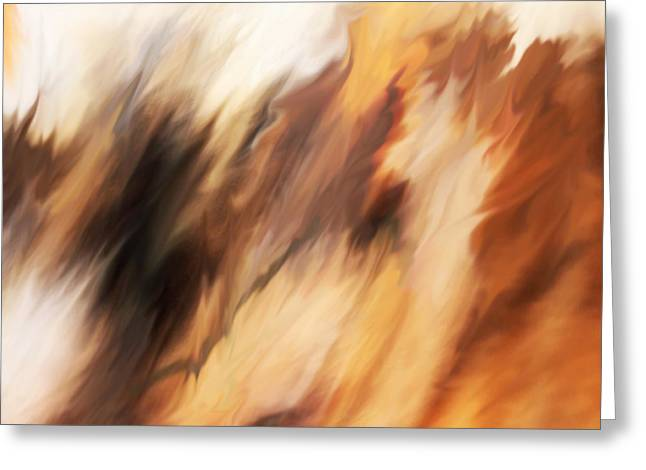 Abstract Artwork Greeting Cards - Passing Through Greeting Card by Rona Black