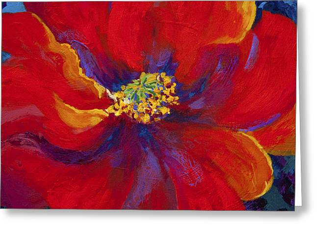 Flower Greeting Cards - Passion - Red Poppy Greeting Card by Marion Rose