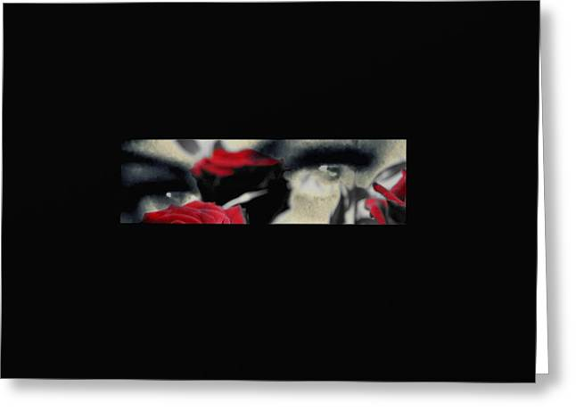 Angel Blues Greeting Cards - Passion and pain the photo Greeting Card by Frances Lewis