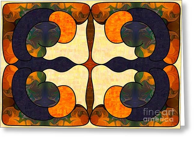 Passion And Pride Abstract Art By Omashte Greeting Card by Omaste Witkowski