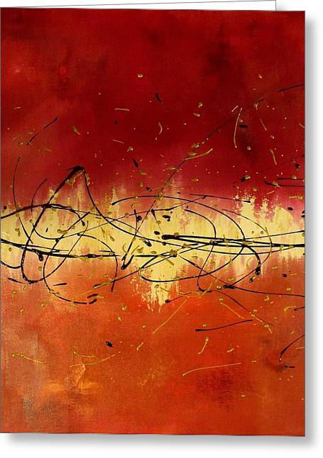 Contemporary ist Paintings Greeting Cards - Passion Greeting Card by Darlene Keeffe