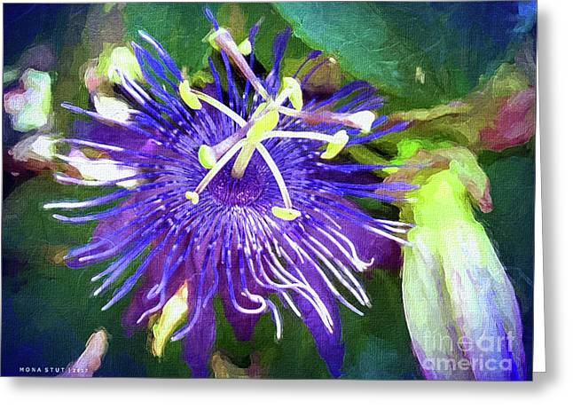 Passion Flower Greeting Card by Mona Stut