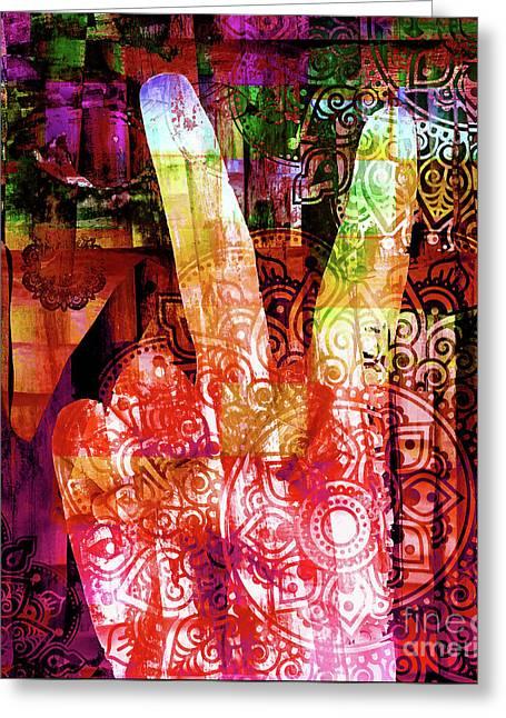 Passion For Peace Greeting Card by Stacey Chiew