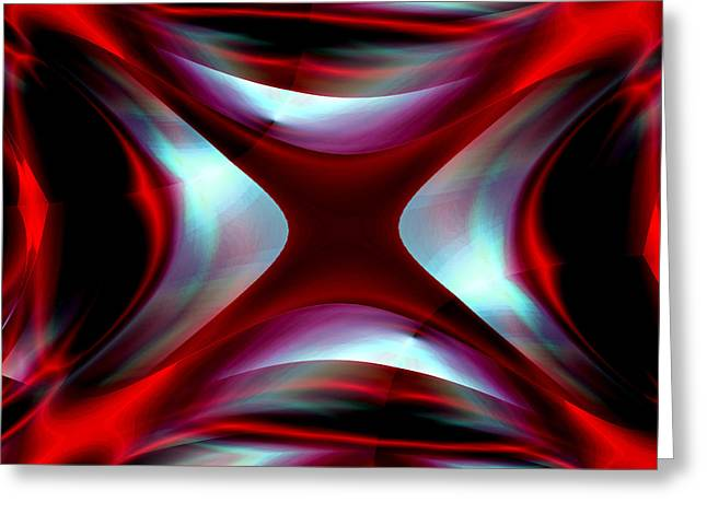 Abstract Expressionist Greeting Cards - Passion for Red 2 Greeting Card by Stephen  Killeen
