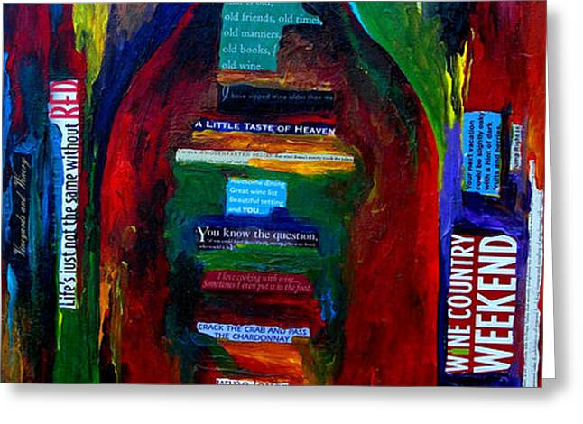 Passion For Wine Greeting Card by Patti Schermerhorn