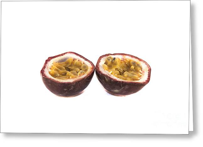 Watermelon Greeting Cards - Passion fruit Greeting Card by Daniel Ronneberg