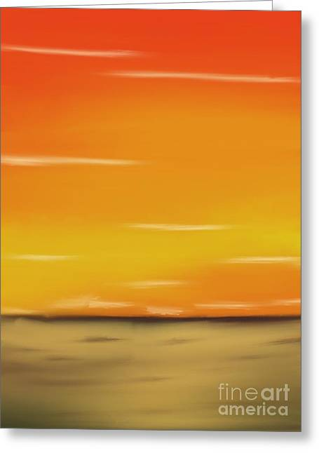 Skylines Pastels Greeting Cards - Passion Greeting Card by Jerod Roberts