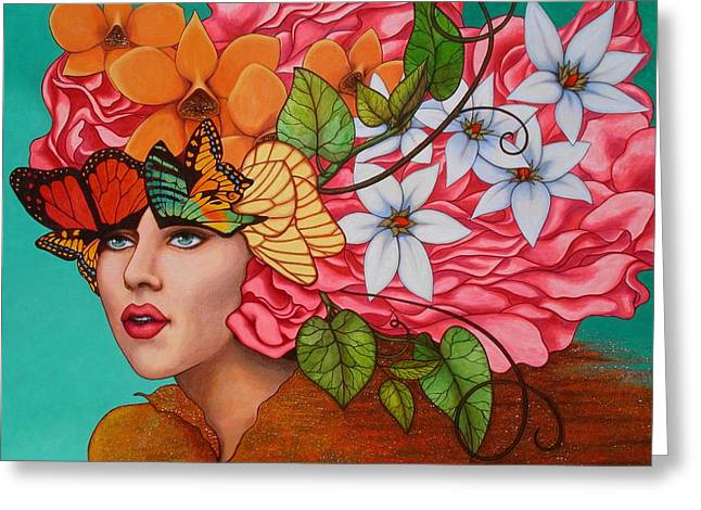 Female Paintings Greeting Cards - Passionate Pursuit Greeting Card by Helena Rose