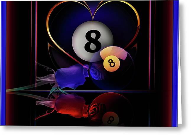 8ball Greeting Cards - Passions Greeting Card by Draw Shots